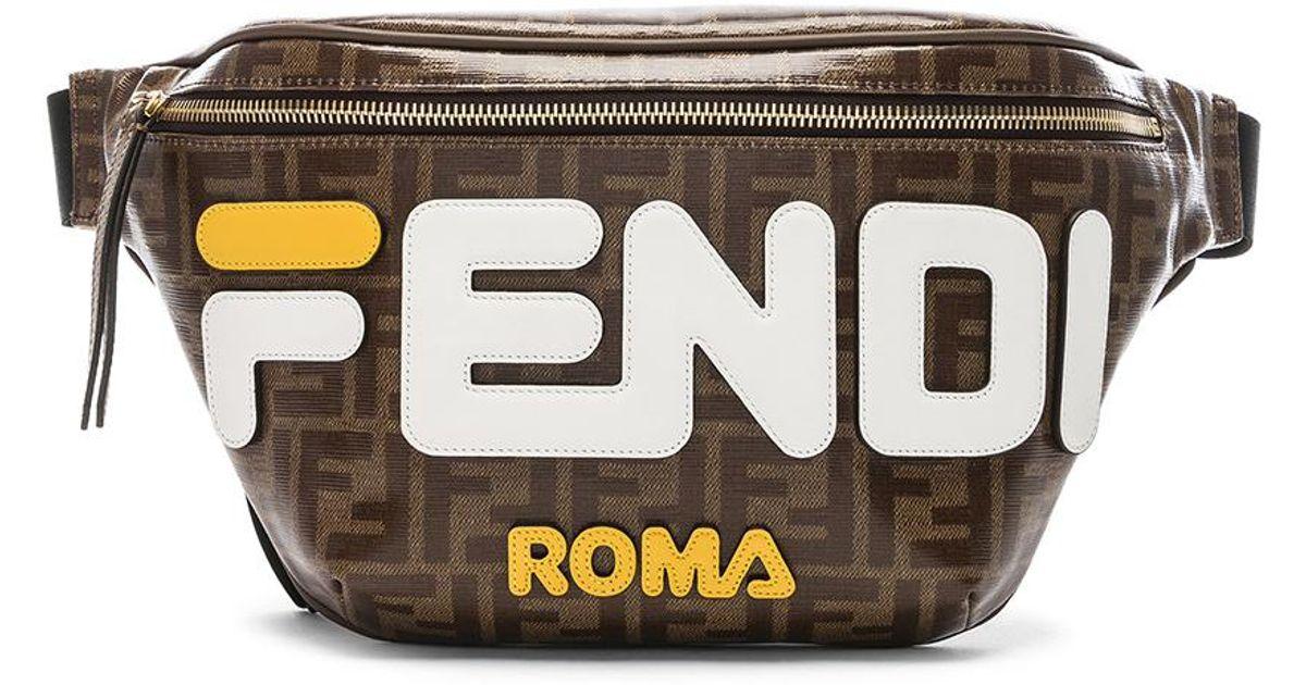 228c8215cd08 Lyst - Fendi Mania Logo Fanny Pack in Brown