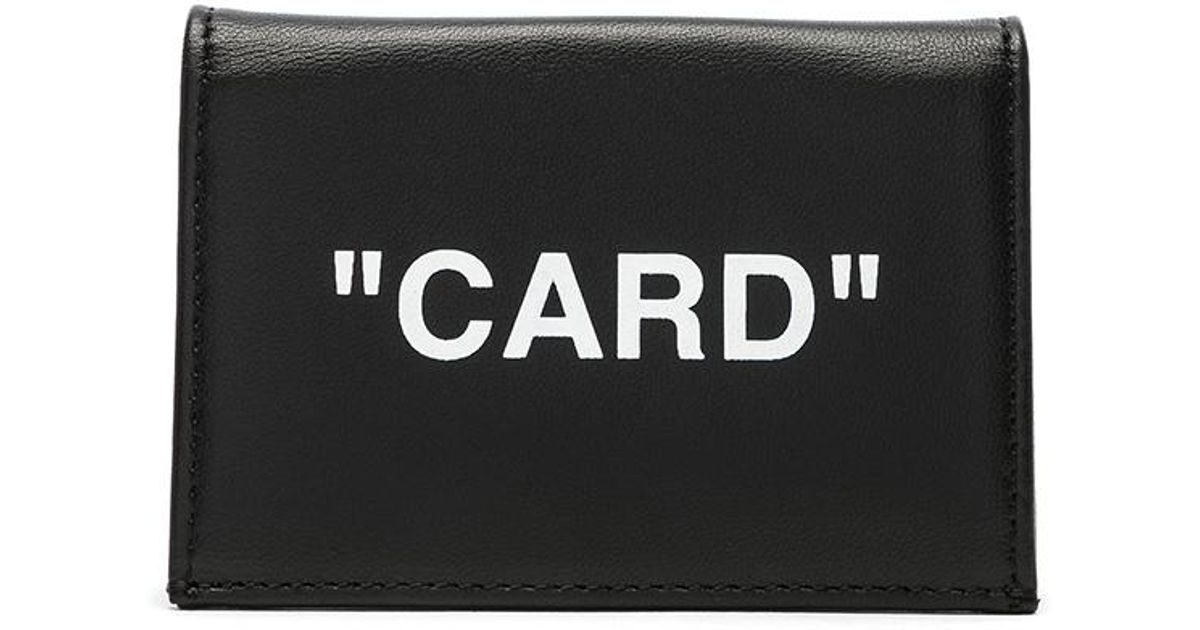aeb90cad9491 Lyst - Off-White c o Virgil Abloh Small Flap Card Case in Black