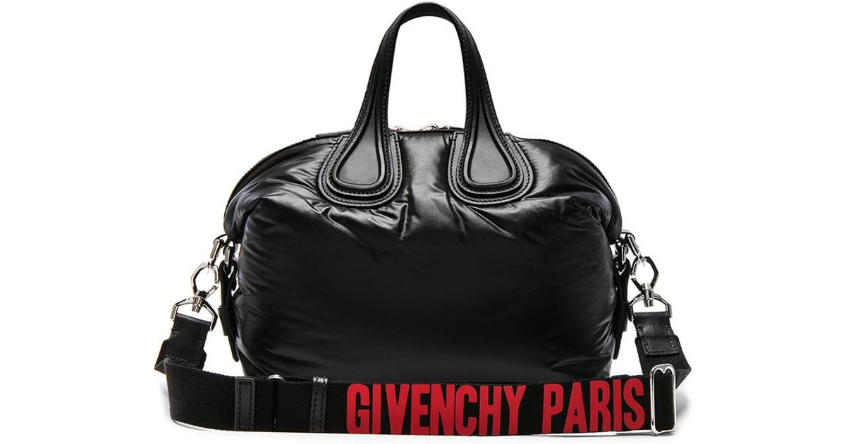 10600d71ffba Lyst - Givenchy Small Logo Strap Nightingale in Black