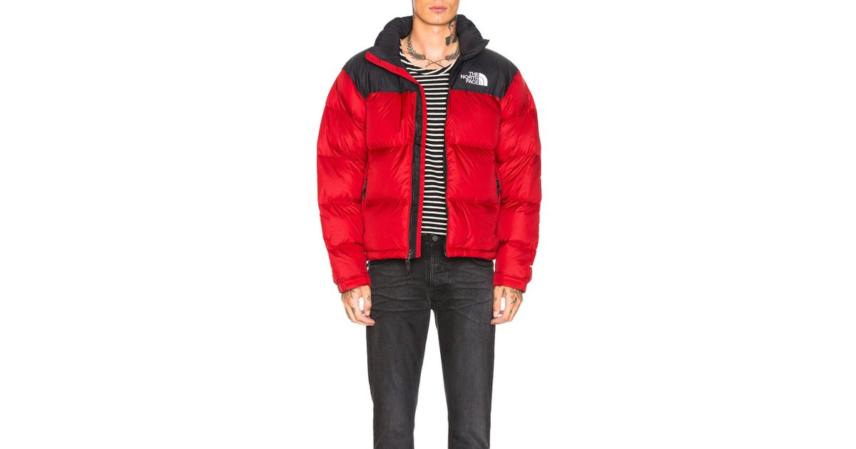 Lyst - The North Face 1996 Retro Nuptse Jacket in Red for Men 3143b52ab