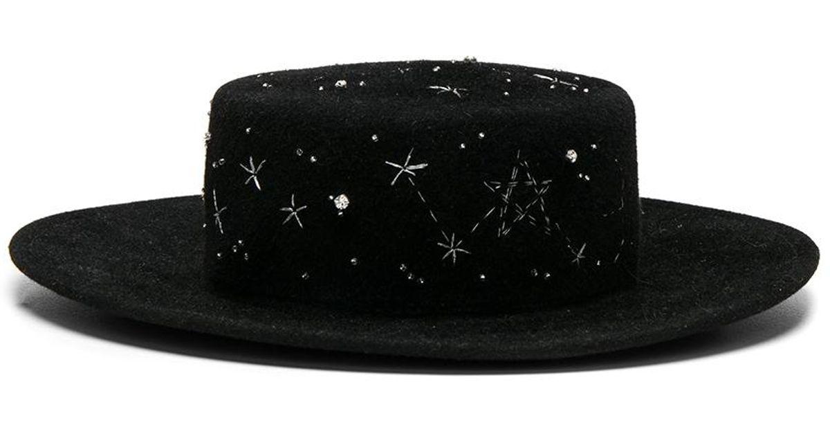 Lyst - Ruslan Baginskiy Constellation Hat in Black - Save 35% 073ddb169b7