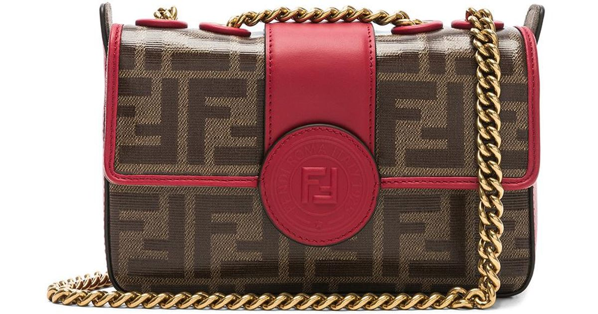 7d6322075daf Lyst - Fendi Mini Logo Print Double F in Brown