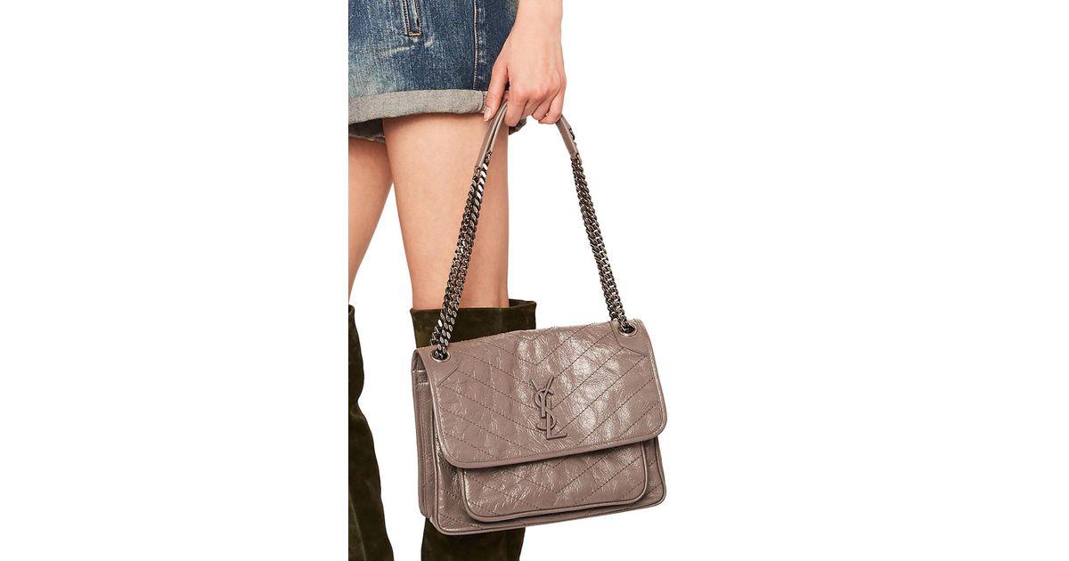 7b0cbad768b Lyst - Saint Laurent Medium Niki Monogramme Chain Bag