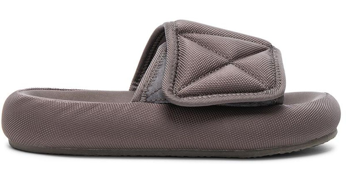 ff67c821c46b Lyst - Yeezy Season 6 Nylon Canvas Slippers in Brown
