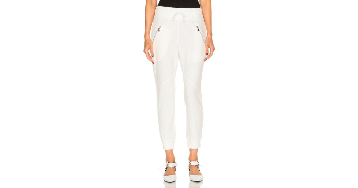 Women's White Sweatpants