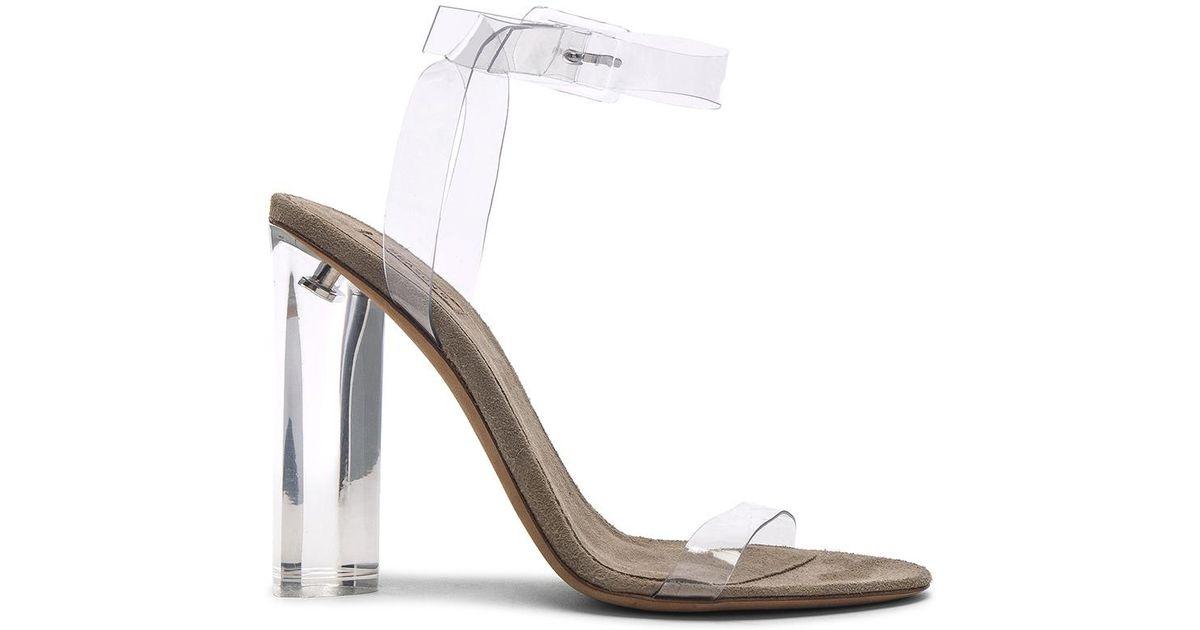 d115b62ff029f Lyst - Yeezy Season 6 Ankle Strap Pvc Heels