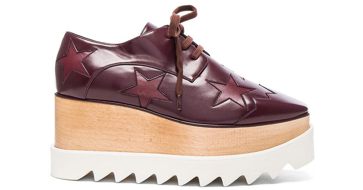 9af270c15ac3 Lyst - Stella McCartney Elyse Star Platform Shoes in Purple