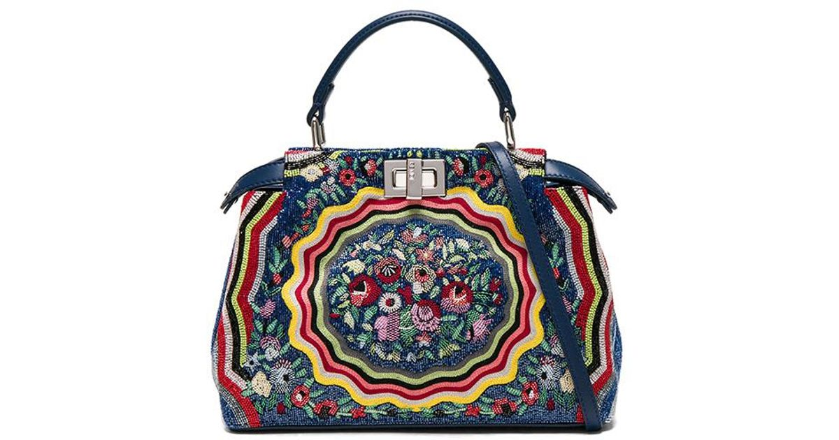 7018eef71bd2 clearance fendi bag flower embroidery designs c5f77 2098a