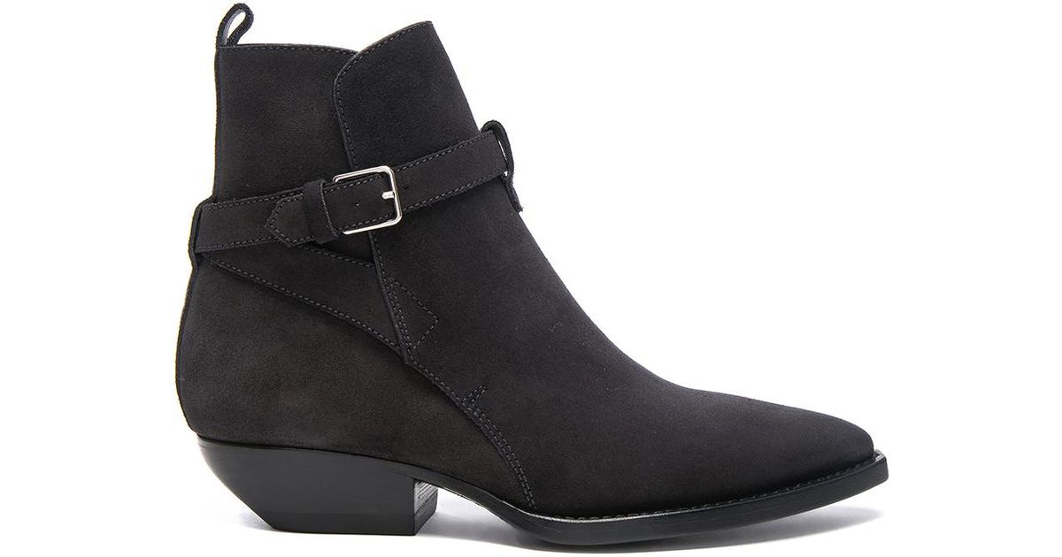 Saint Laurent Suede Theo Jodhpur Boots in Discount Looking For Outlet Big Discount How Much Sale Online Ezi4D