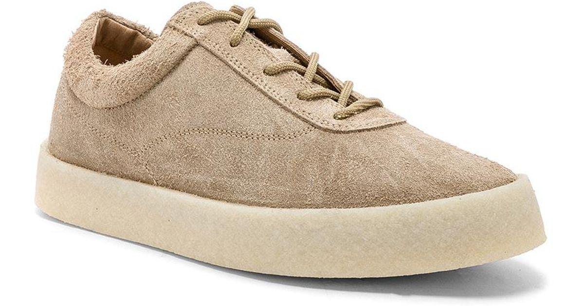 83284bdd6ab4a Lyst - Yeezy Season 6 Crepe Sneaker in Natural