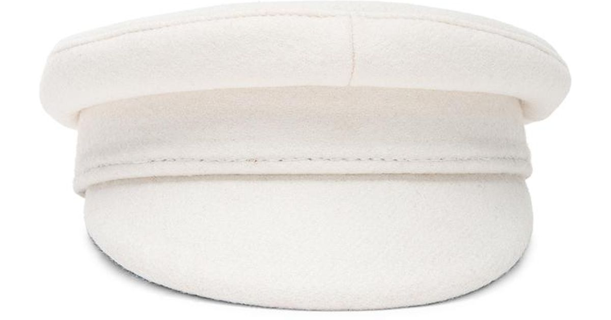 Lyst - Ruslan Baginskiy Baker Boy Cap in White a61666f6edf