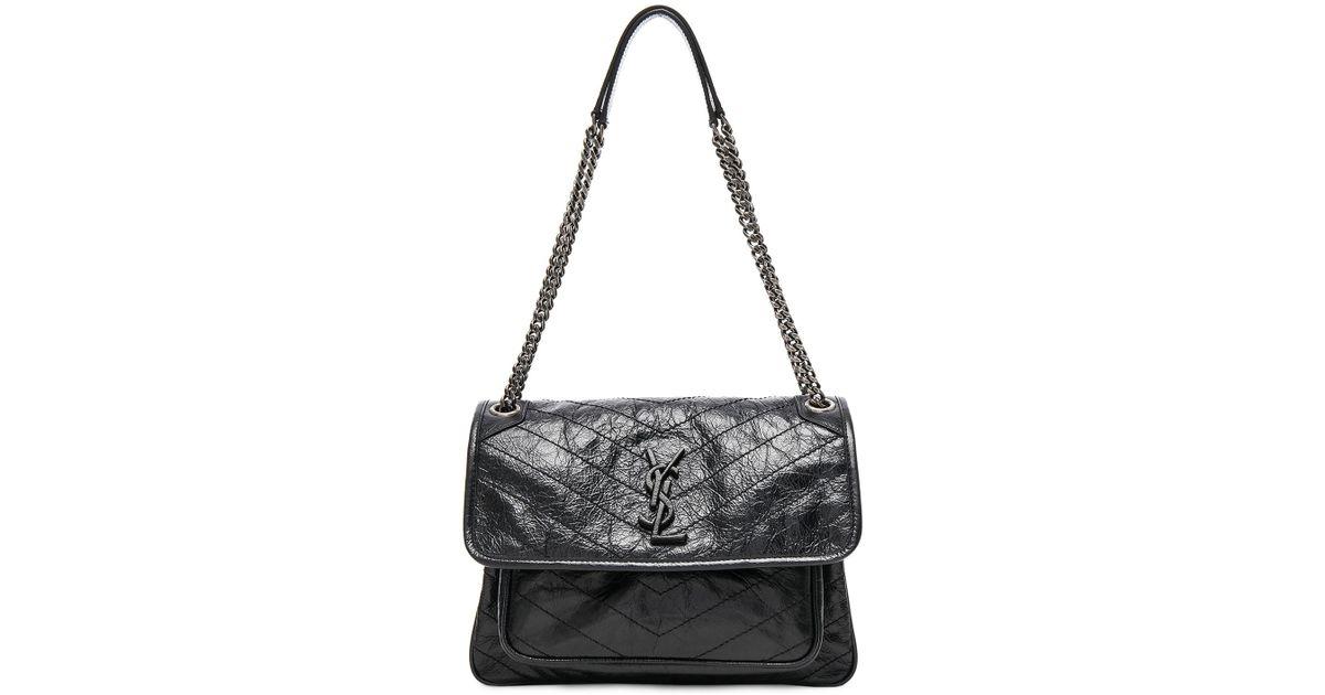 a25d8a9d90f5 Lyst - Saint Laurent Medium Niki Monogramme Chain Bag in Black