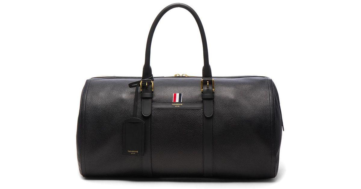 Lyst - Thom Browne Deerskin Duffle Bag in Black 675d430e29