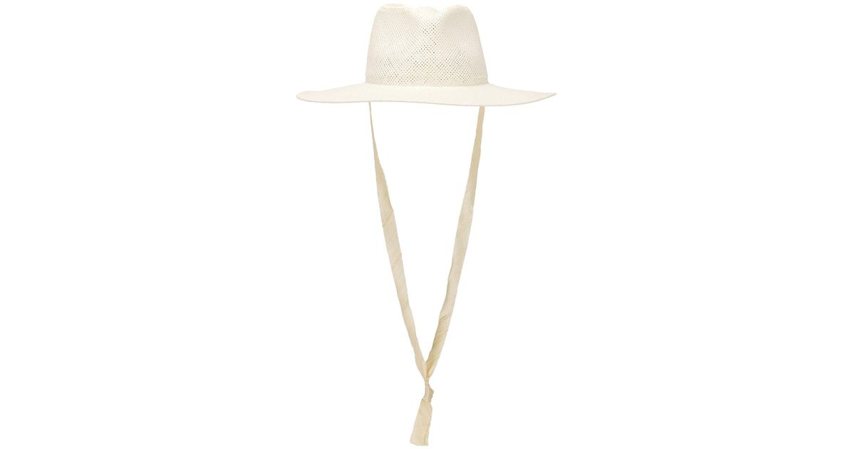 419a57f2236 Lyst - Janessa Leone Cezanne Packable Hat in White