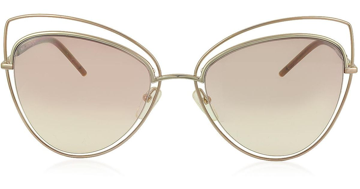 1750a2025a Lyst - Marc Jacobs Marc 8 s Metal And Acetate Cat Eye Women s Sunglasses -  Save 50%
