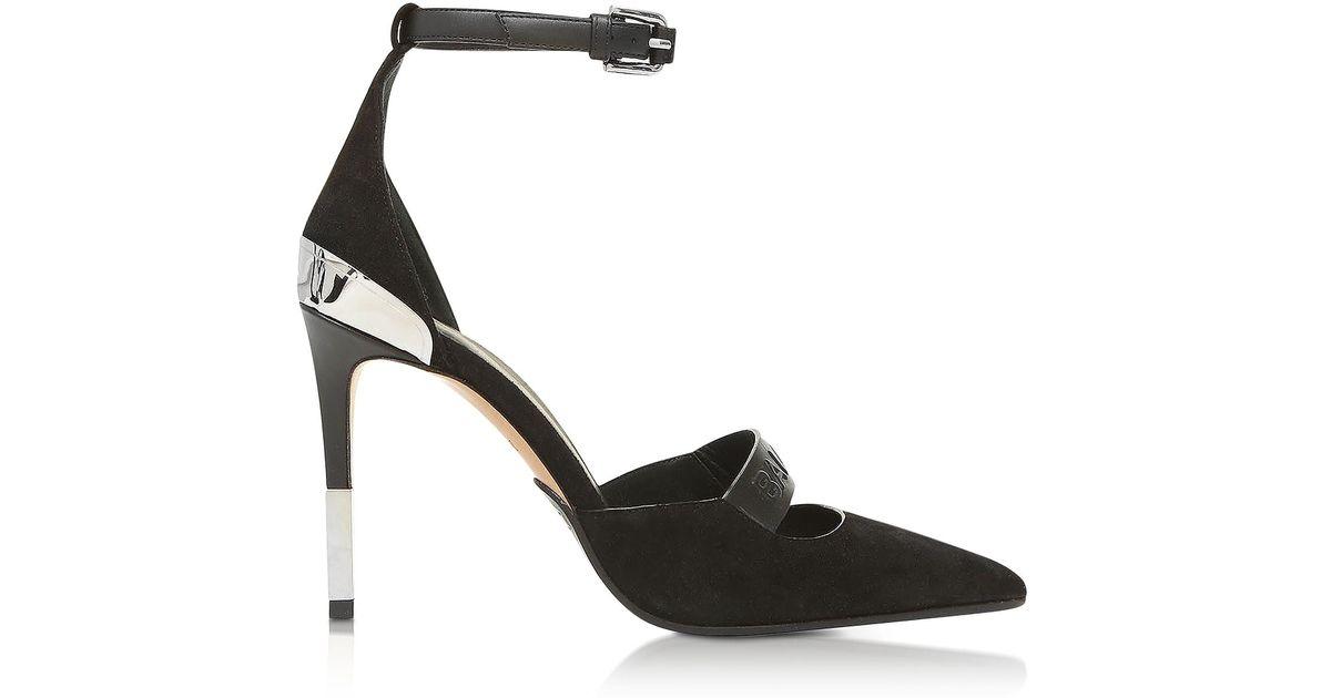 Balmain Shoes, Suede Mid-Heel Chance Pumps