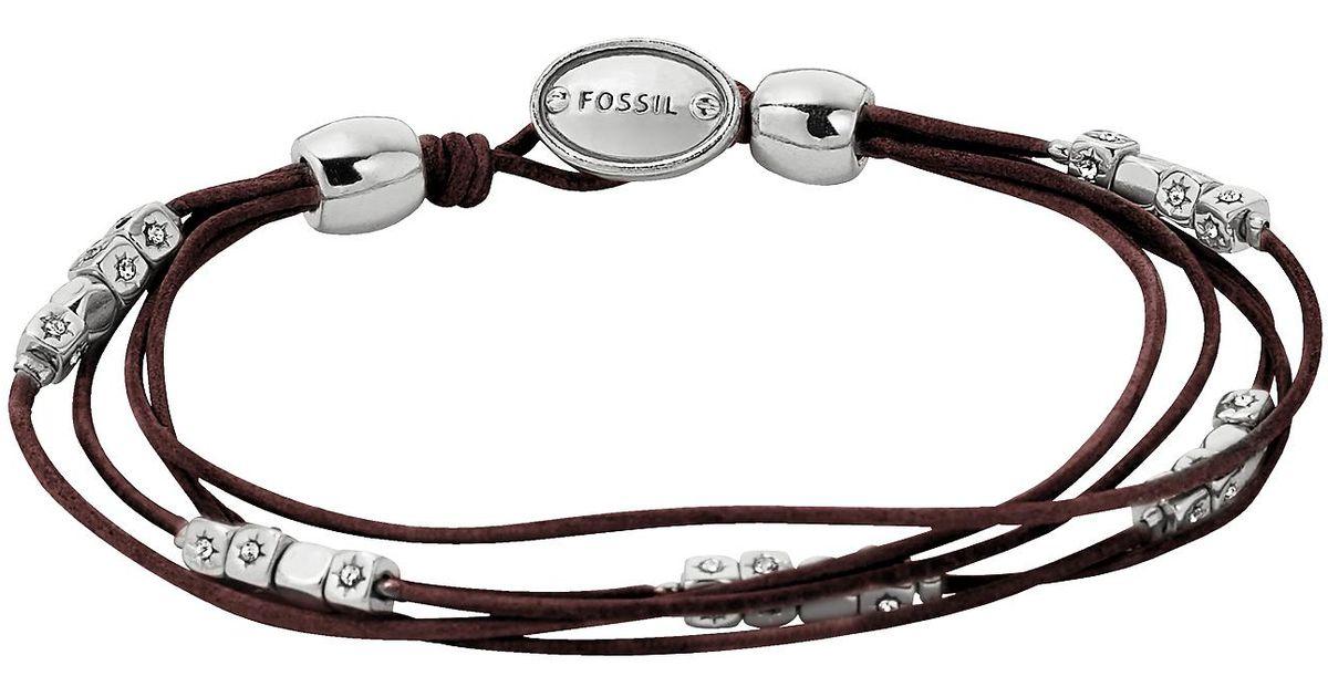 Fossil Women's Brown white Bracelet JA6068040 TEiG5a
