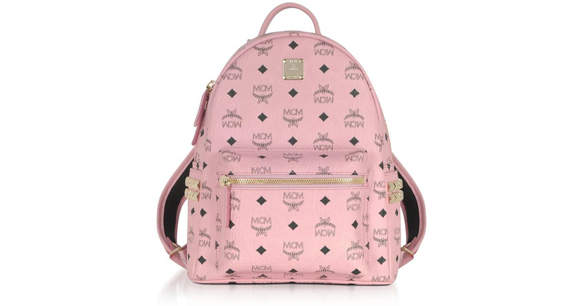 Lyst - MCM Soft Pink Small Stark Backpack in Pink 2db7fe25a988b