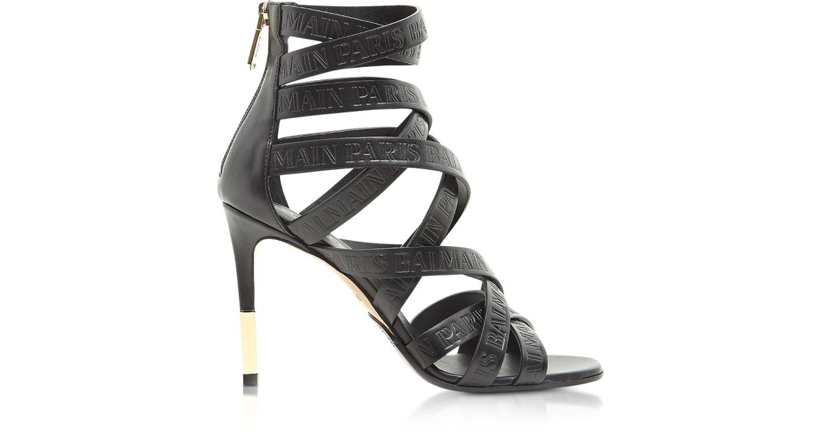 strappy ankle sandals - Black Balmain