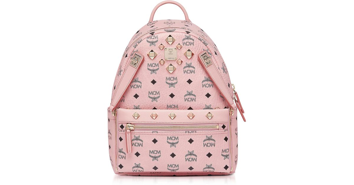 3f60b7413 MCM Dual Stark Backpack/pouchette Visetos Soft Pink in Pink - Lyst