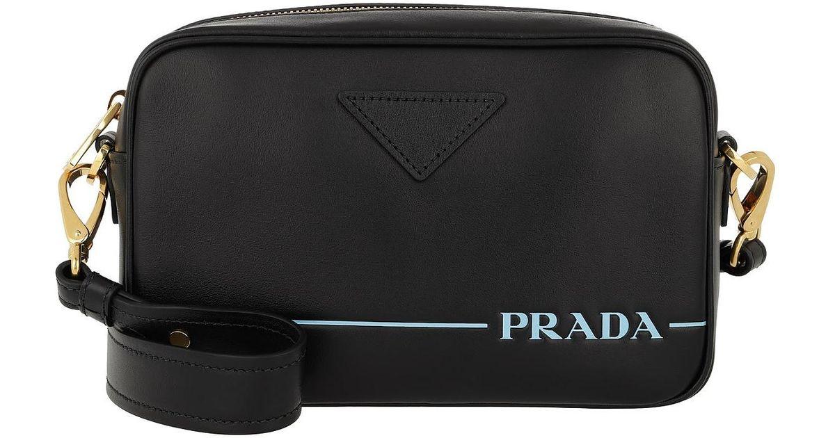 fc7f43ce54d1 Lyst - Prada Mirage Leather Crossbody Bag Nero in Black