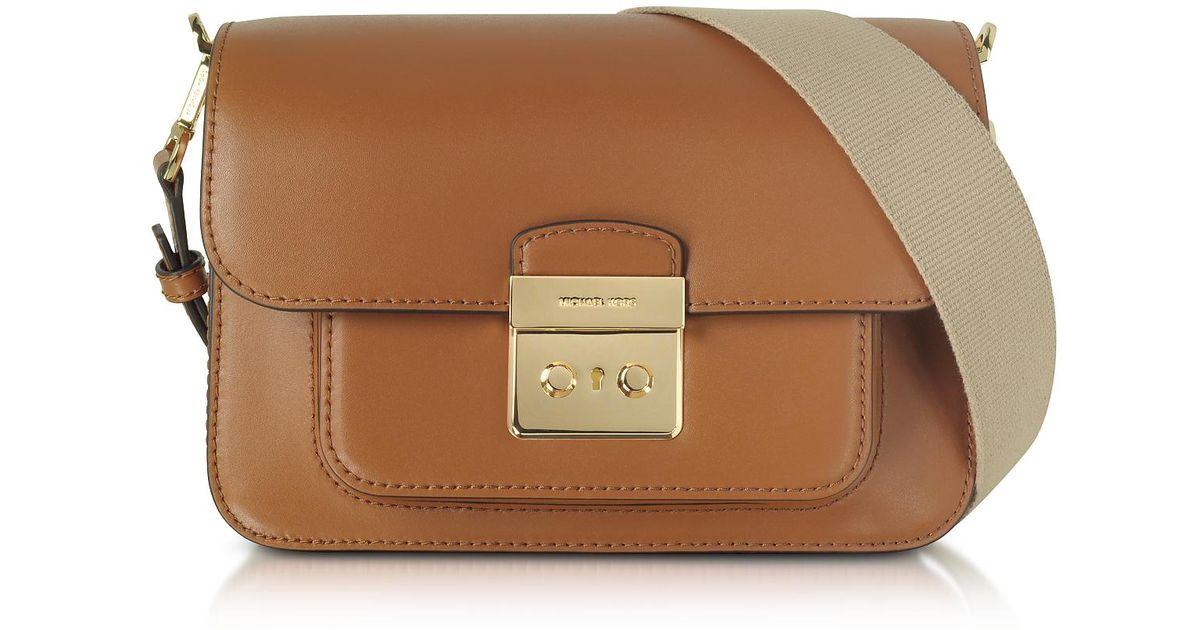 ffd12812a52 Michael Kors Sloan Editor Large Acorn Leather Shoulder Bag in Brown - Lyst