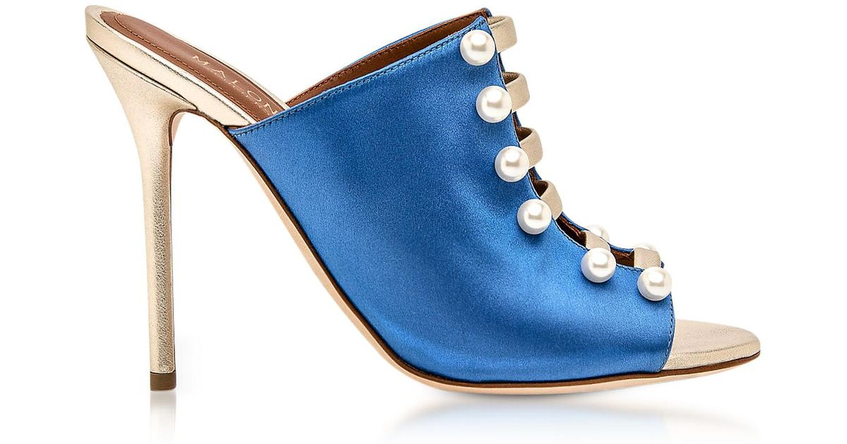 Zada Embellished Satin Mules Malone Souliers Free Shipping From China Sale Finishline Best Store To Get Cheap Sale Original Nicekicks For Sale lm98gn