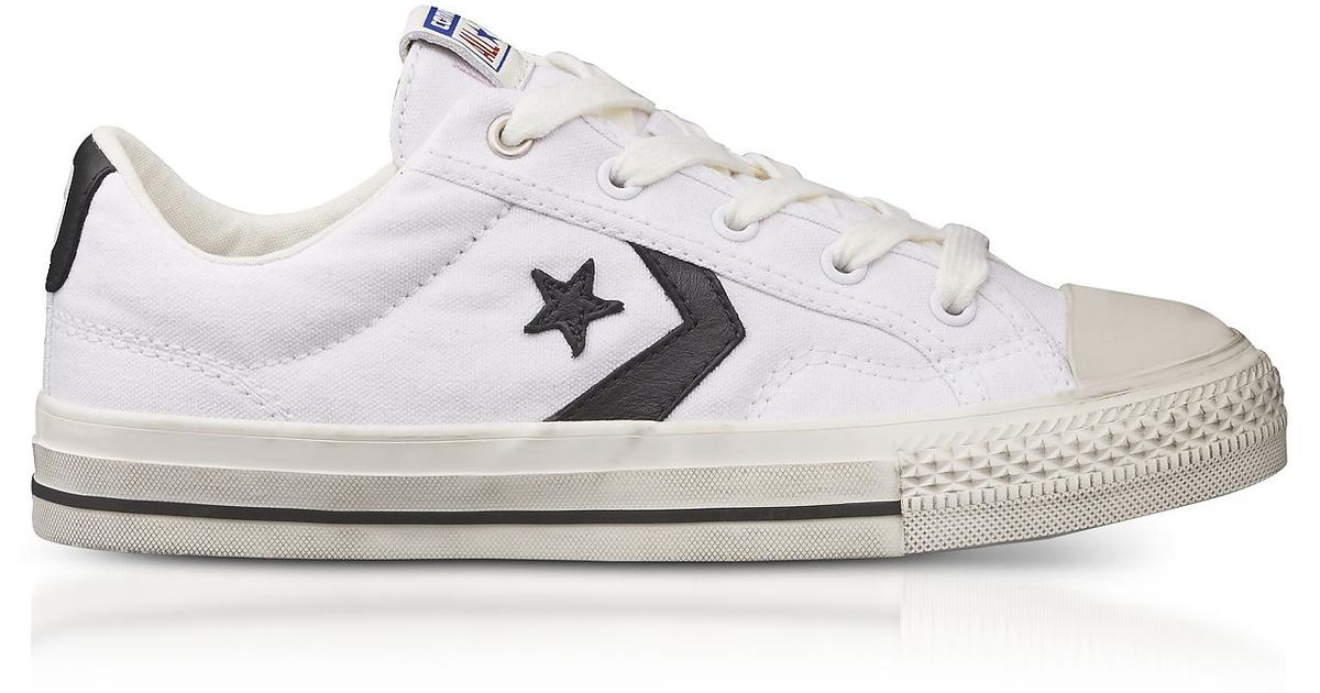 fa9c40425732 Lyst - Converse White Star Player Distressed Ox Canvas Men s Sneakers in  White for Men