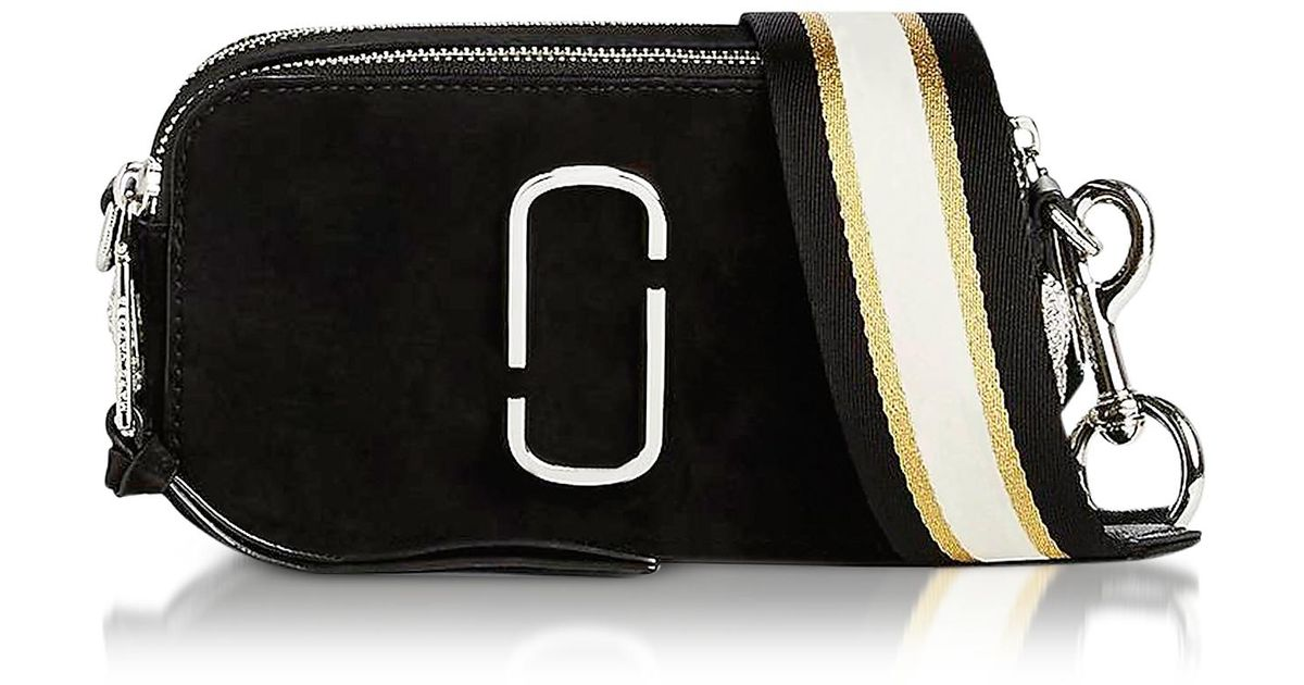 468f91da613d Marc Jacobs Black Leather Pavè Chain Snapshot Small Camera Bag in Black -  Lyst