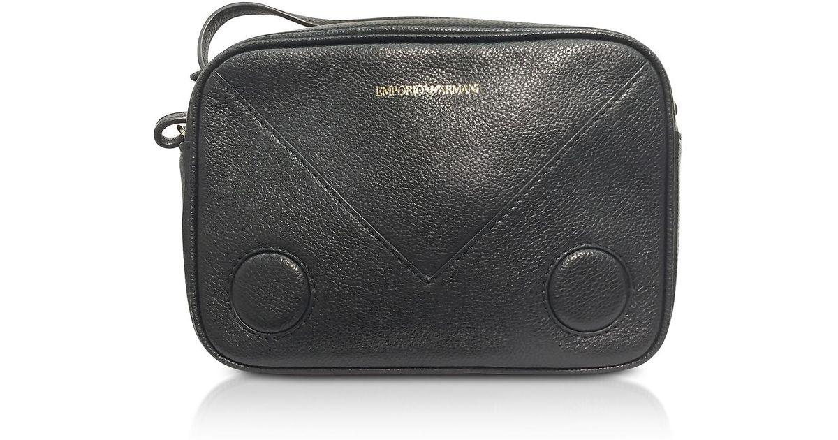 f7128739ce76 Lyst - Emporio Armani Black Mini Shoulder Bag in Black