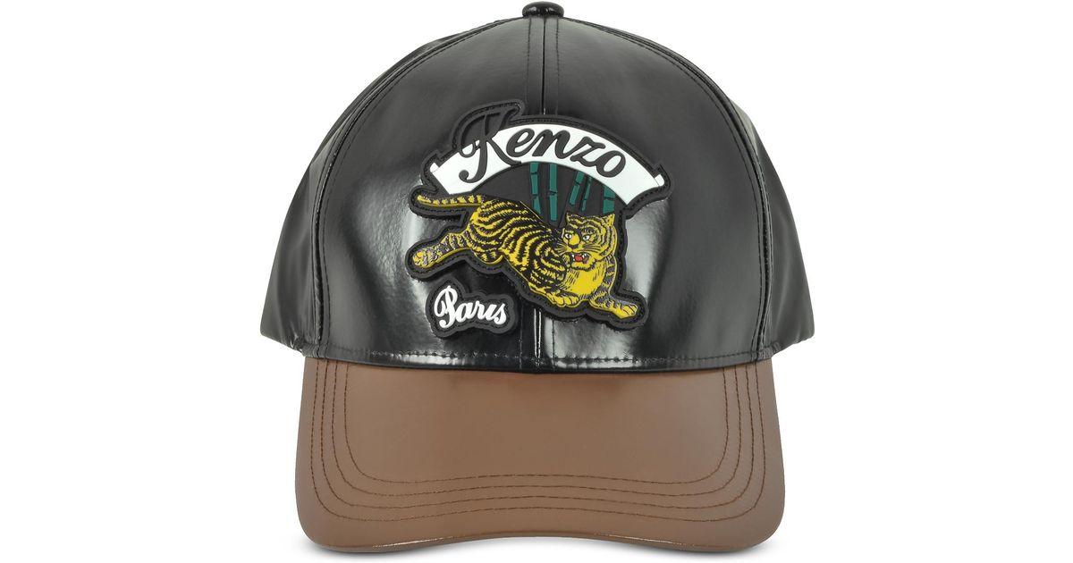 KENZO Bamboo Tiger Baseball Cap in Black for Men - Lyst bd5dd8f634e8