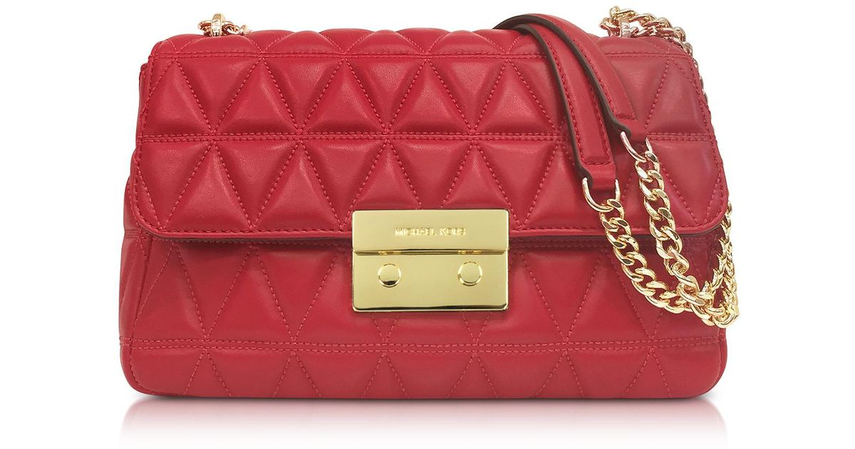 aa5744d8a6 Lyst - Michael Kors Bright Red Sloan Large Quilted-leather Shoulder Bag in  Red