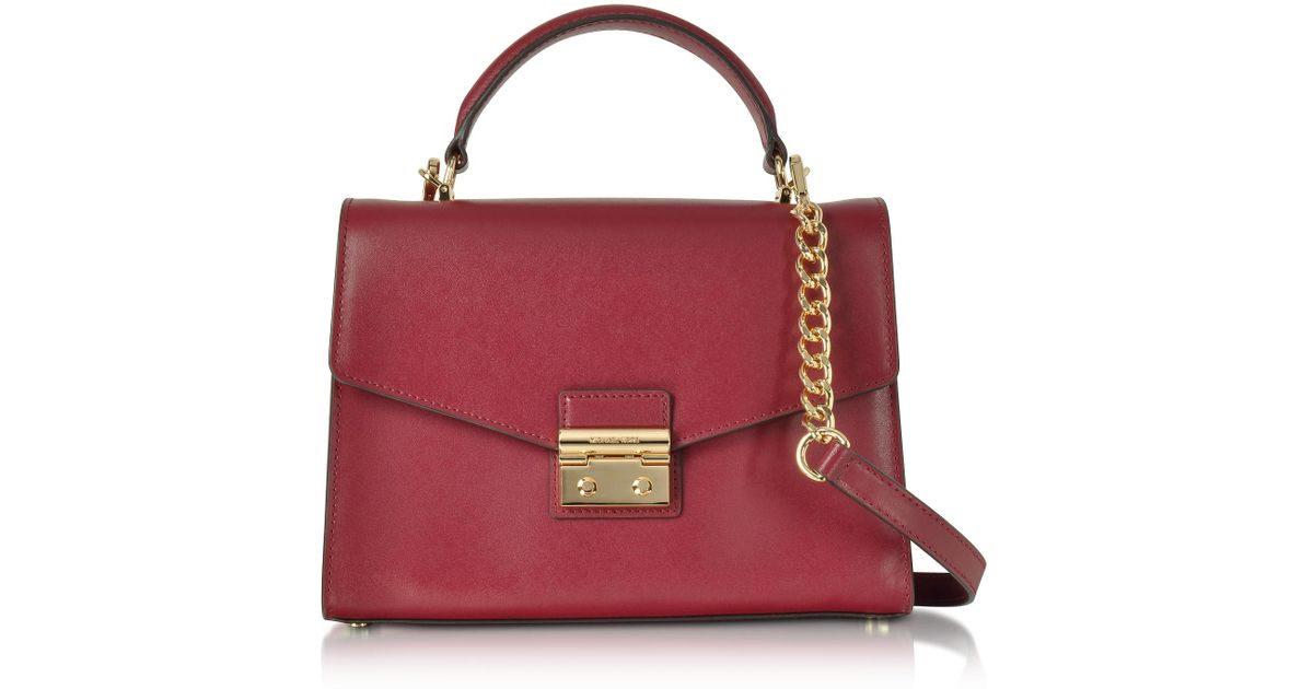 7fa67f8079fc Michael Kors Sloan Medium Mulberry Leather Satchel Bag in Purple - Lyst