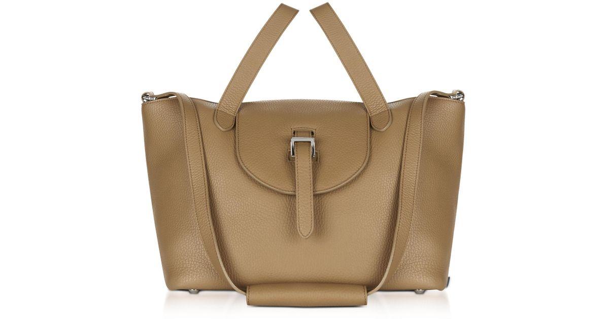 4a56337f47e3 Meli Melo Light Tan Leather Thela Medium Tote Bag in Brown - Lyst