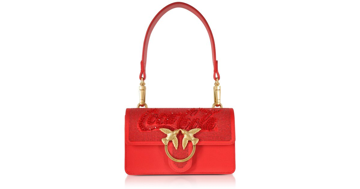7a6bf38bdf97 Pinko Red Mini Love Paprika Shoulder Bag in Red - Lyst