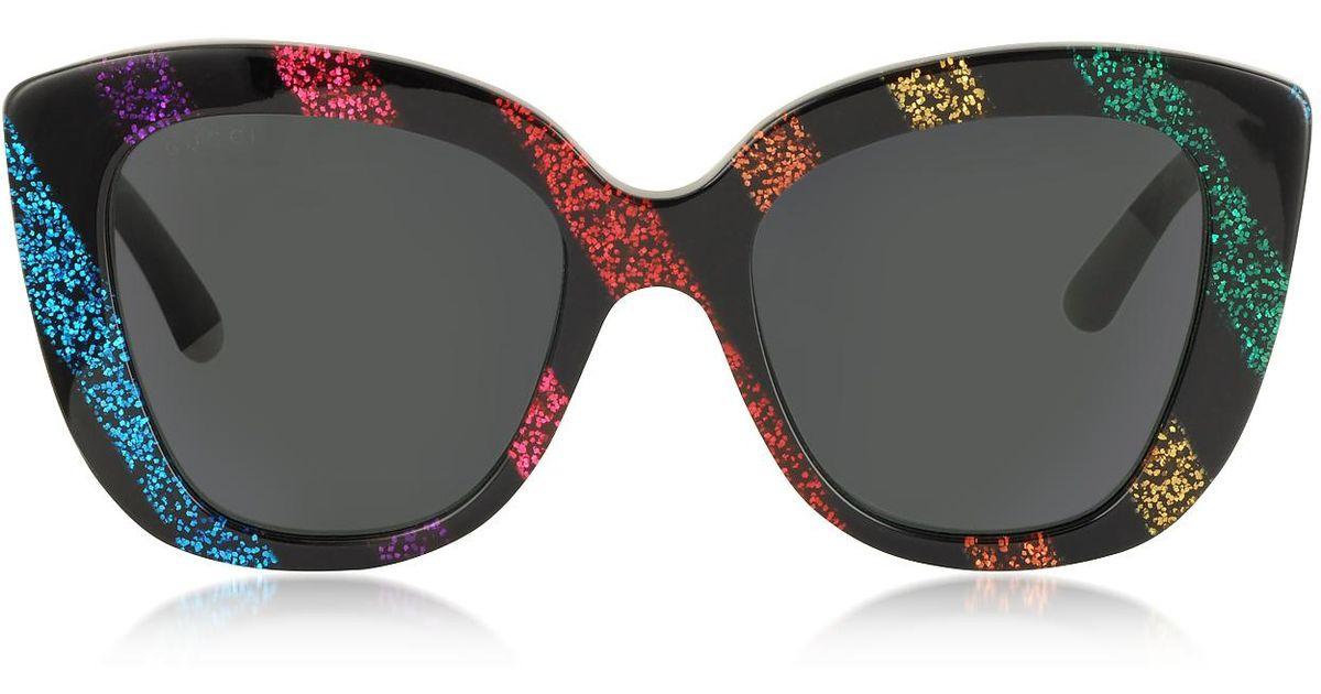 199a6e2746b Lyst - Gucci Oversized Rectangular-frame Acetate Sunglasses