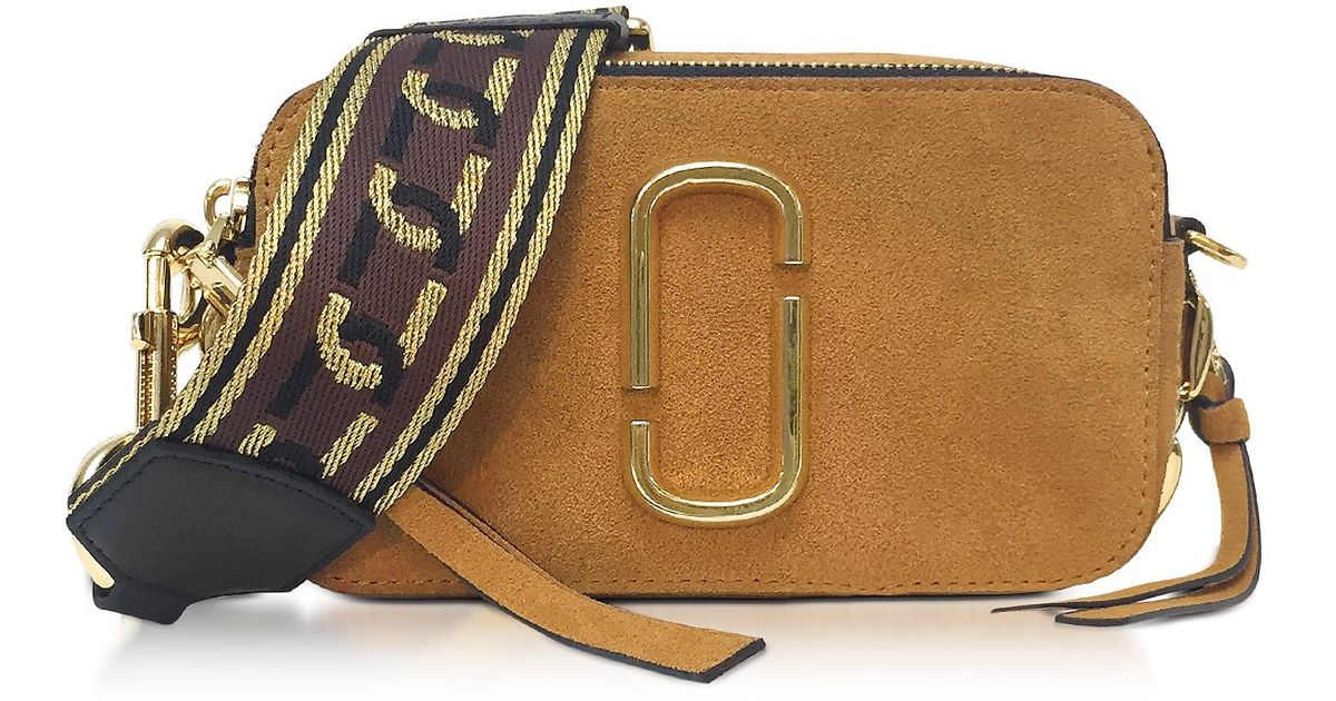 1f70e5ad5828 Lyst - Marc Jacobs Mustard Yellow Chain Snapshot Small Camera Bag in Brown