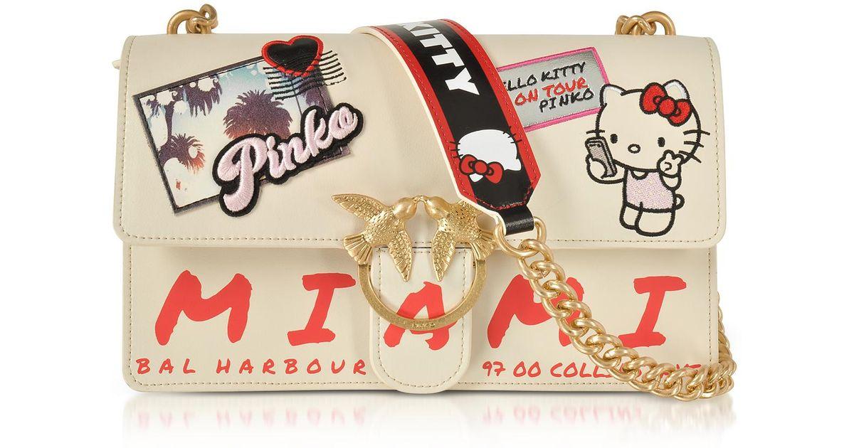 df57d21da869 Lyst - Pinko Love Hello Kitty Souvernir White Eco Leather Shoulder Bag in  White