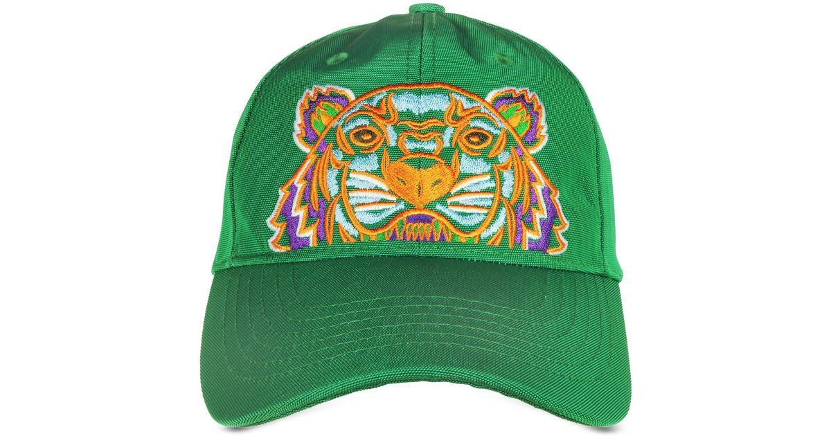 Kenzo Grass Green Canvas Tiger Baseball Cap in Green - Lyst 1caa482440d3