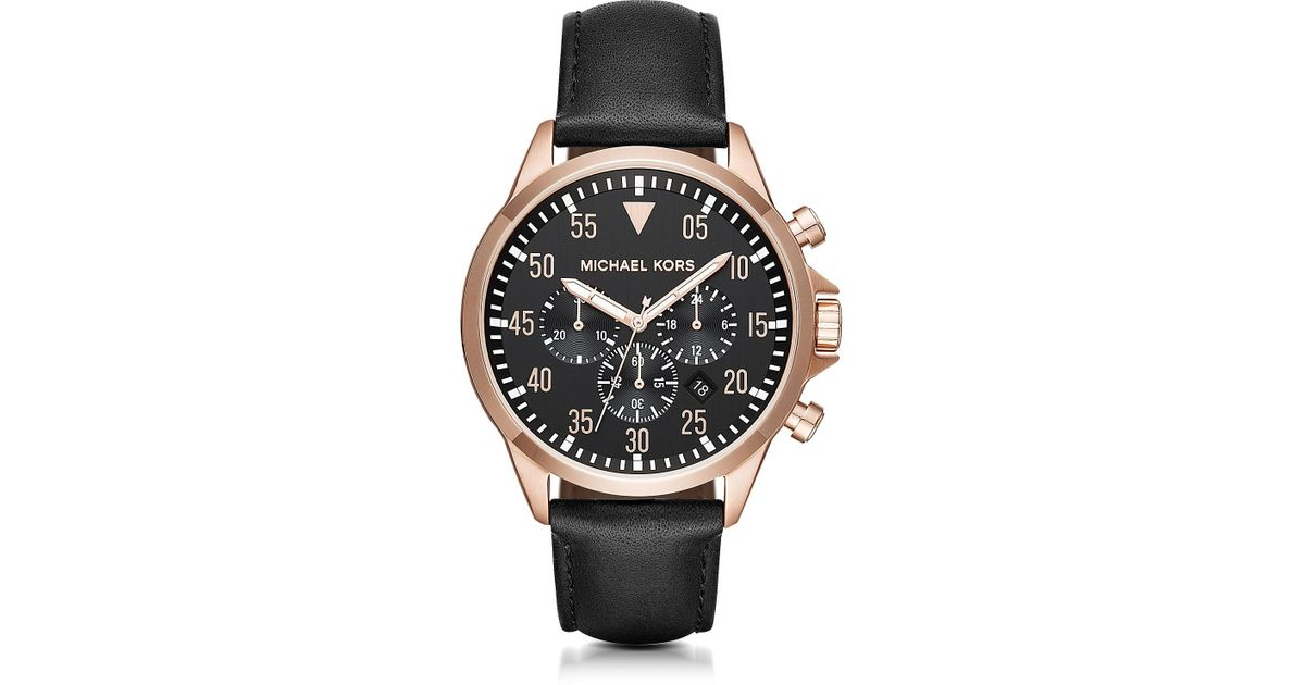 00fae2117cc0 Lyst - Michael Kors Gage Rose Goldtone Stainless Steel Men s Chronograph  Watch in Metallic for Men