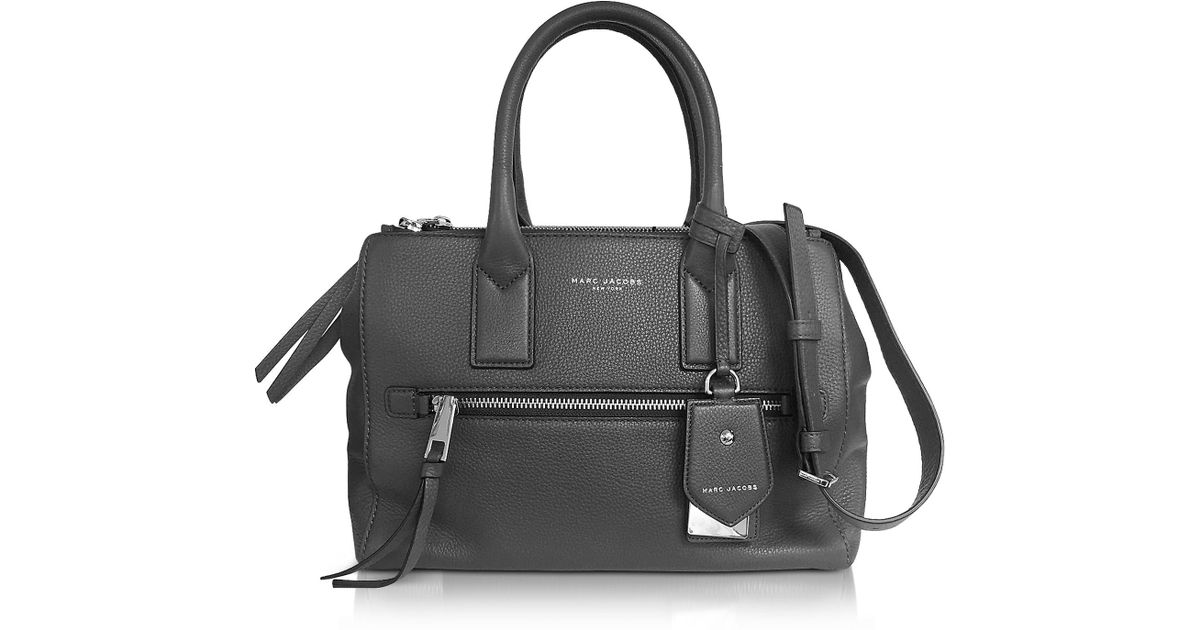 baa2bae39f3f Lyst - Marc Jacobs Recruit East West Shadow Leather Tote in Gray