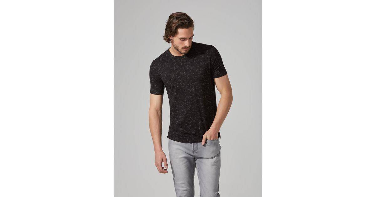 9f4cc9b365 Lyst - Frank And Oak Loose Fit Jersey T-shirt In Black Melange in Black for  Men