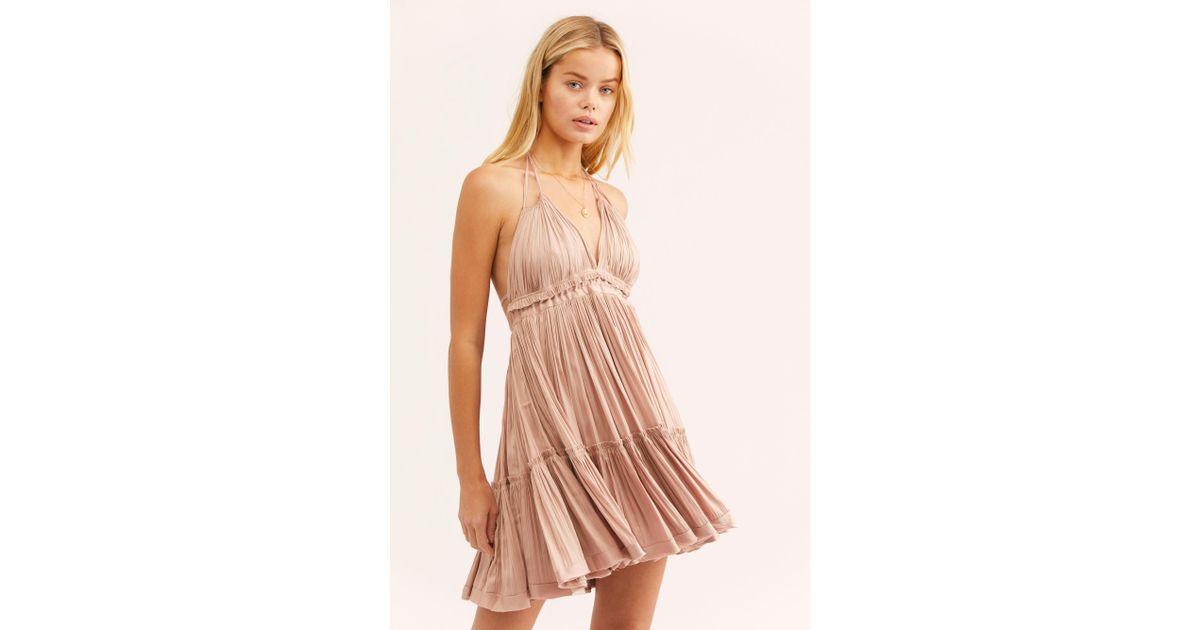 7952fc9458e Free People 100 Degrees Of Shine Mini Dress - Lyst
