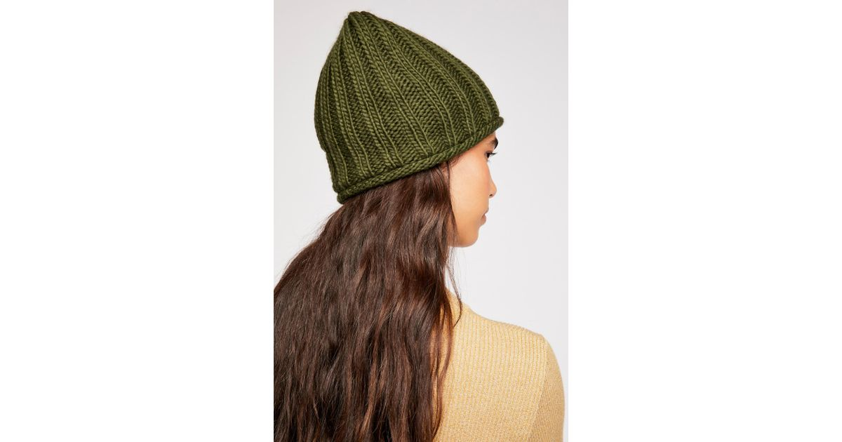 8c61cc647774c9 Free People Rory Rib Beanie in Green - Lyst
