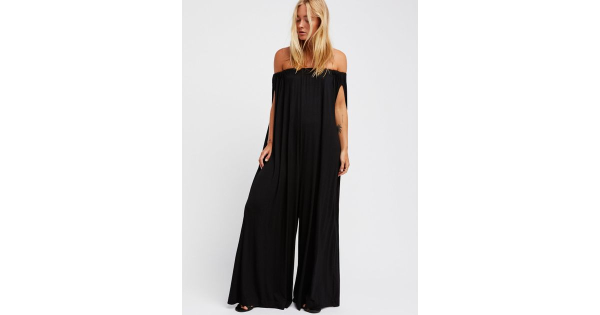 34813718925 Lyst - Free People Mexicali Maxi One-piece in Black