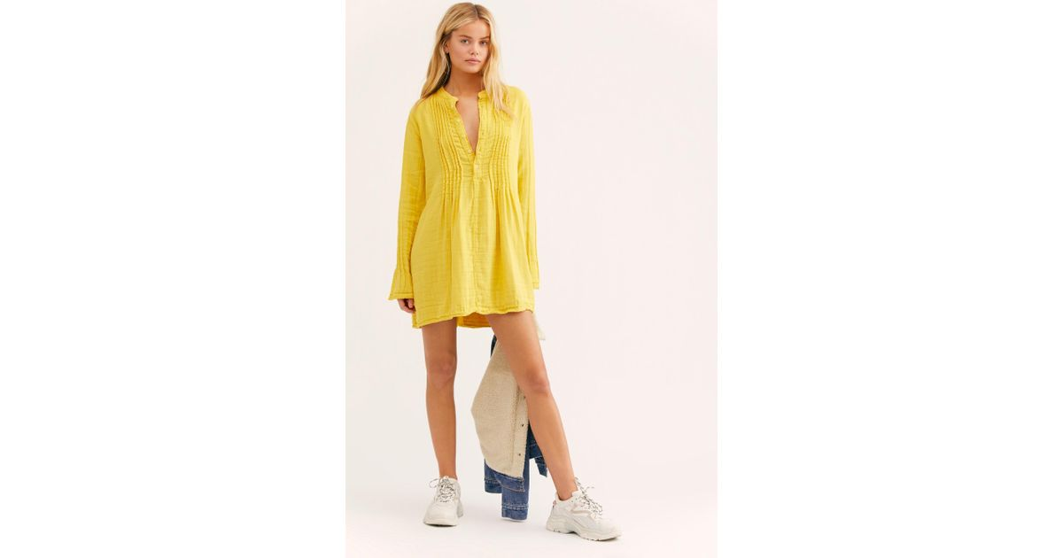 0e69f18bcfa Free People Yoko Tunic By Cp Shades in Yellow - Lyst