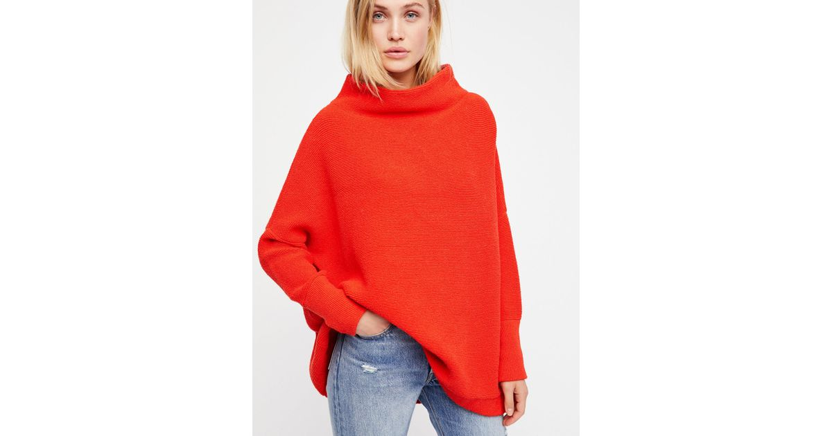 43df19ee83d Free People Ottoman Slouchy Tunic in Red - Lyst