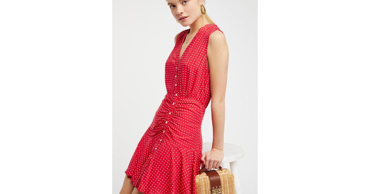 Lyst - Free People Pippa Mini Dress in Red
