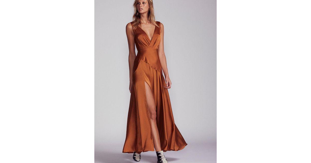 f1427b80c8 Free People Essie Maxi Dress in Brown - Lyst