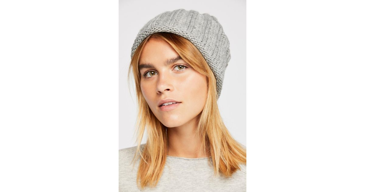 cf131fde97425c Free People Rory Rib Knit Beanie in Gray - Lyst